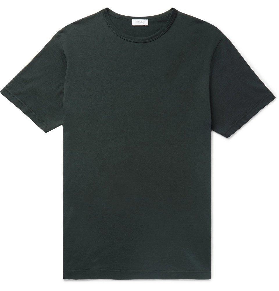 Sunspel - Slim-Fit Cotton-Jersey T-Shirt - Men - Green