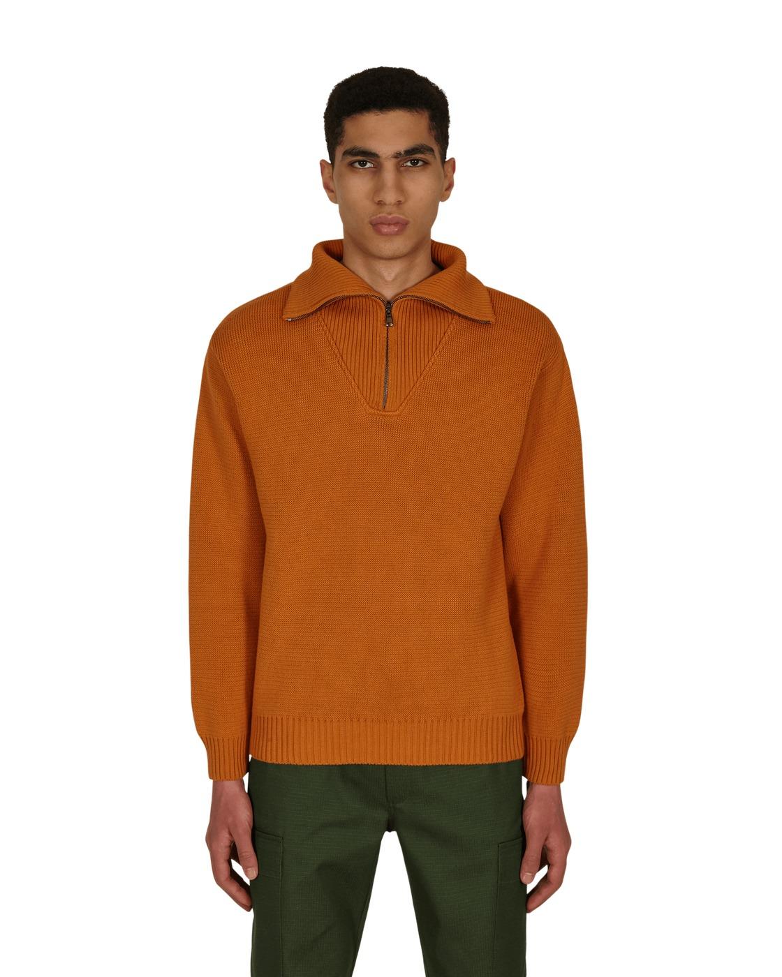 Photo: Gr10k Sgl Anti Cotton Zip Sweater Loquat