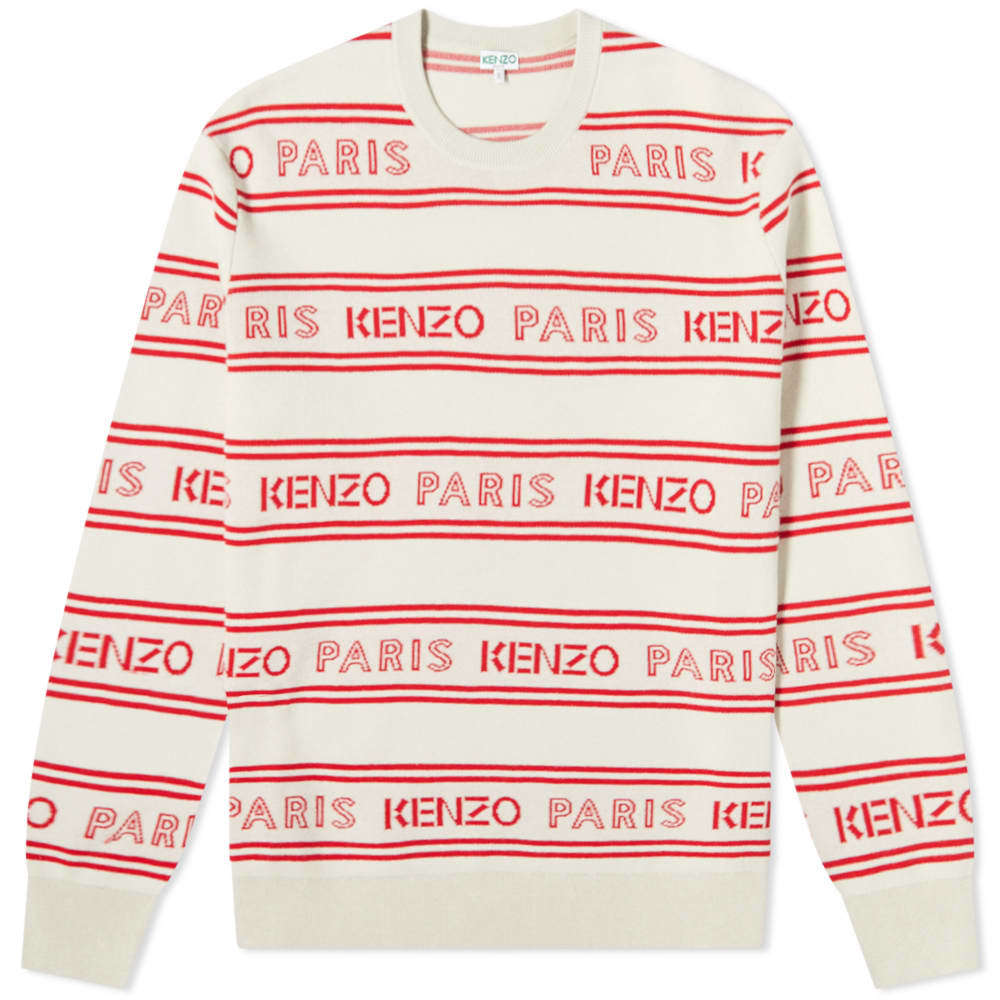 Photo: Kenzo Jacquard All Over Logo Crew Knit