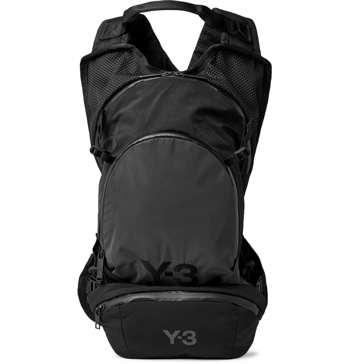 Photo: Y-3 - CH1 Logo-Detailed Mesh-Panelled Shell Backpack - Gray