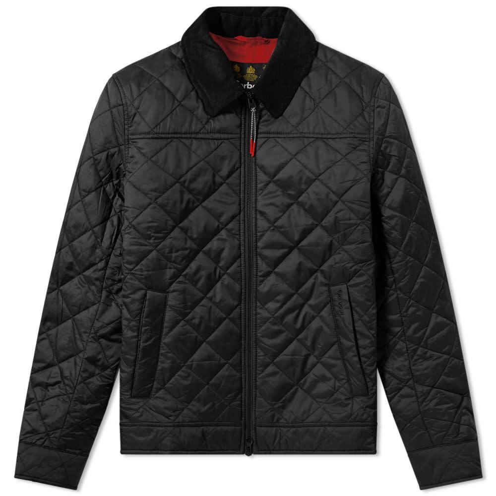 Photo: Barbour Trough Quilt Jacket Black