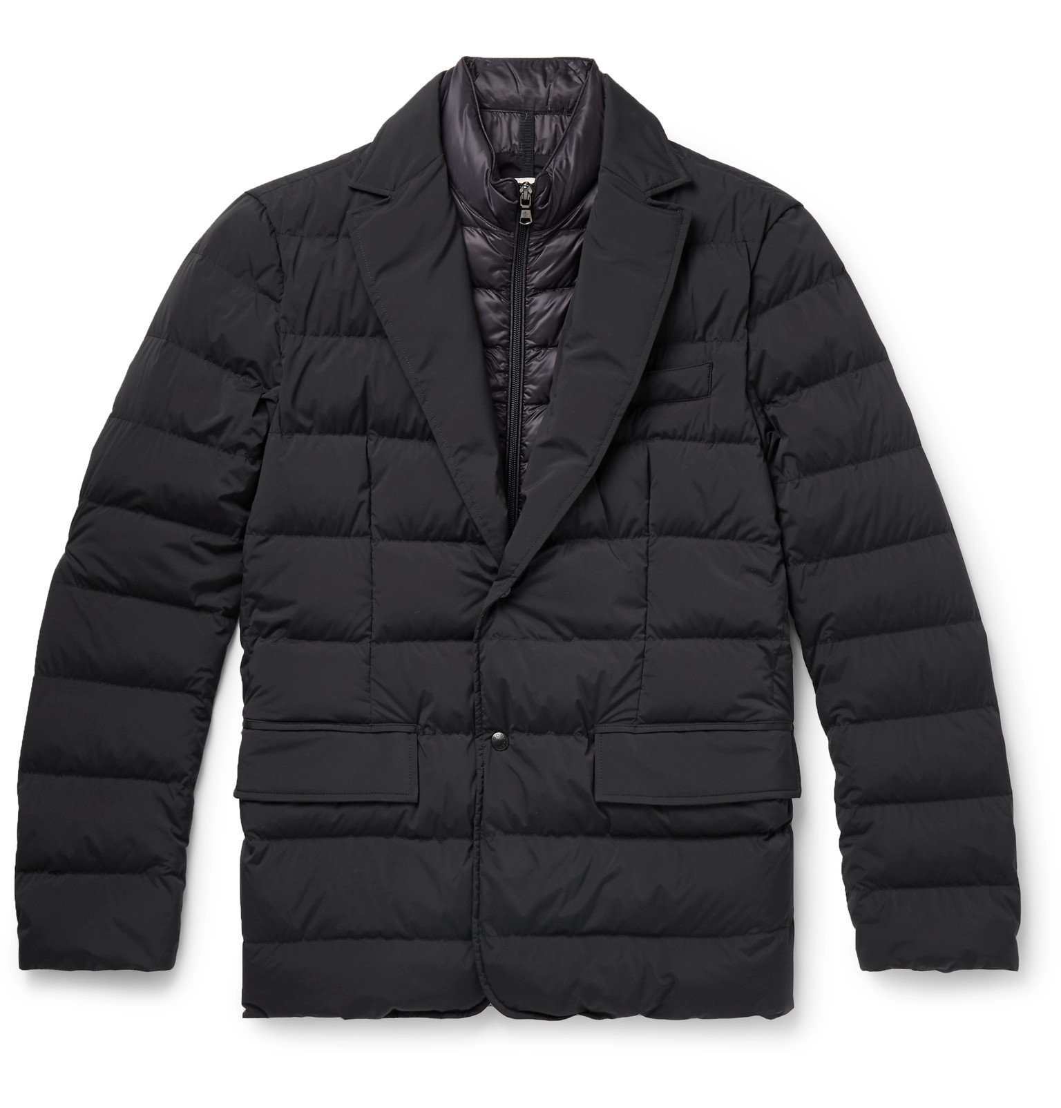Photo: Moncler - Slim-Fit Quilted Stretch-Shell Down Jacket - Blue