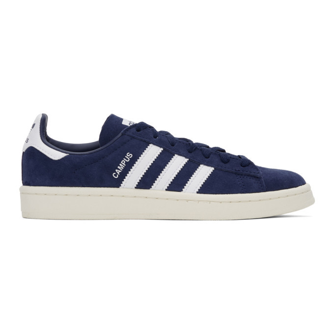 Photo: adidas Originals Navy Nubuck Campus Sneakers