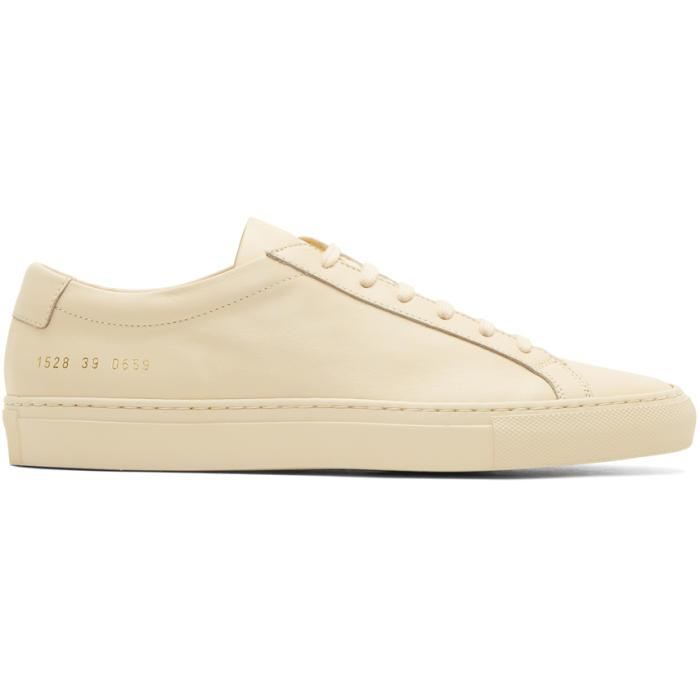 Common Projects Beige Original Achilles Low Sneakers