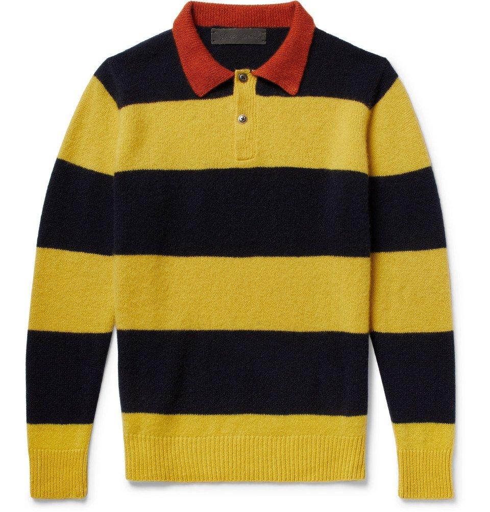 Photo: The Elder Statesman - Striped Cashmere Sweater - Yellow