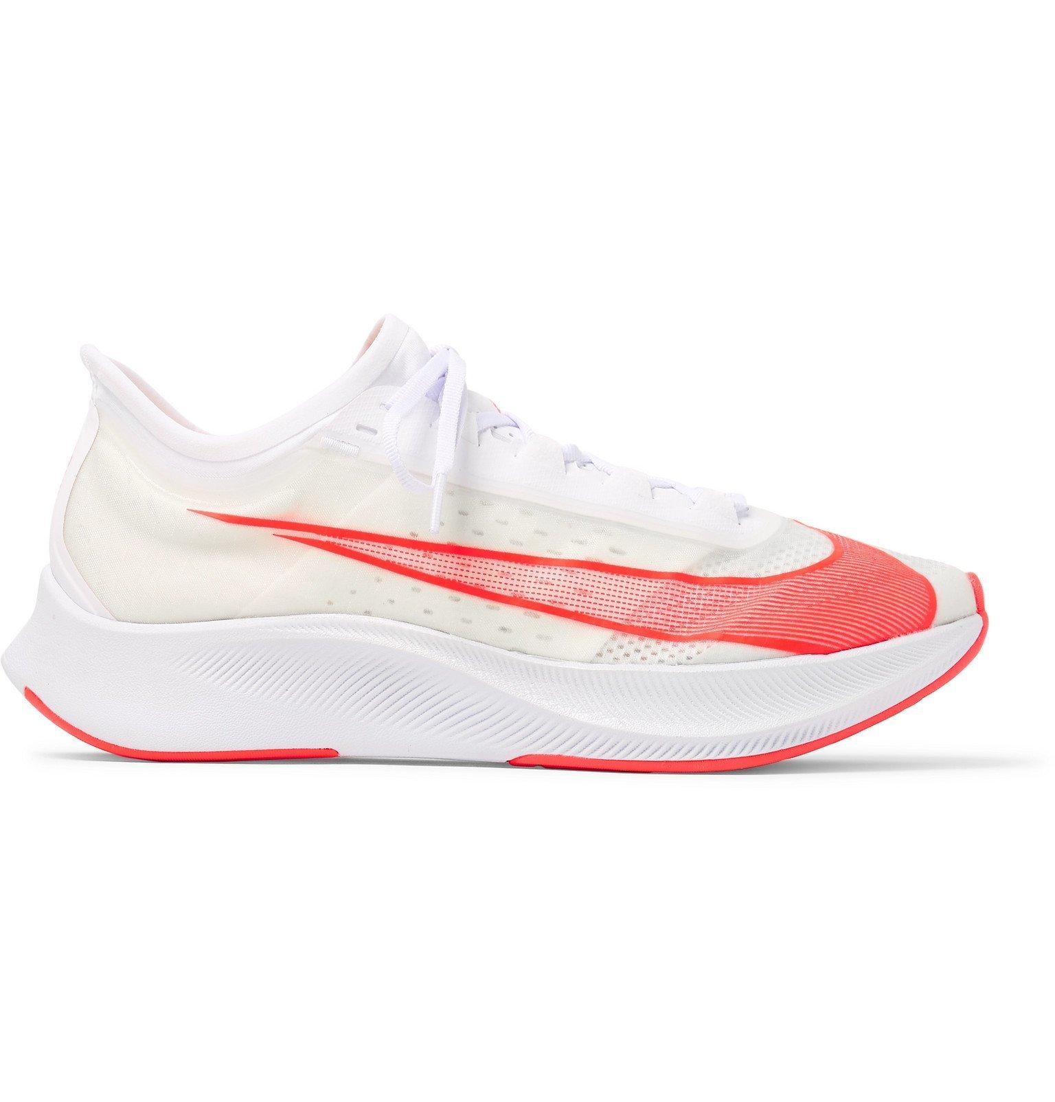Photo: Nike Running - Zoom Fly 3 Vaporweave Running Sneakers - White