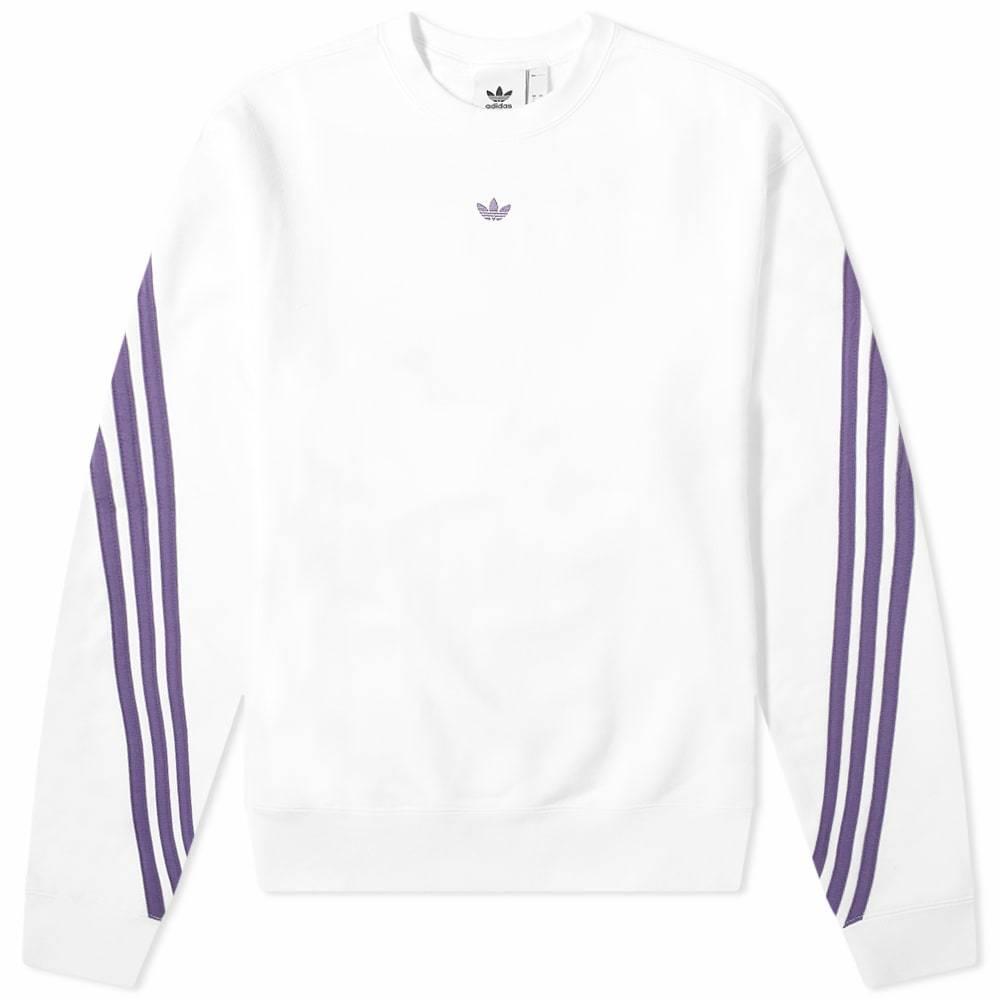 Adidas 3-Stripe Wrap Crew Sweat