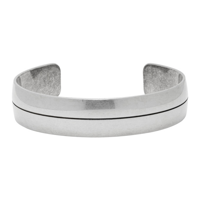 Photo: Givenchy Silver Signature Logo Bangle