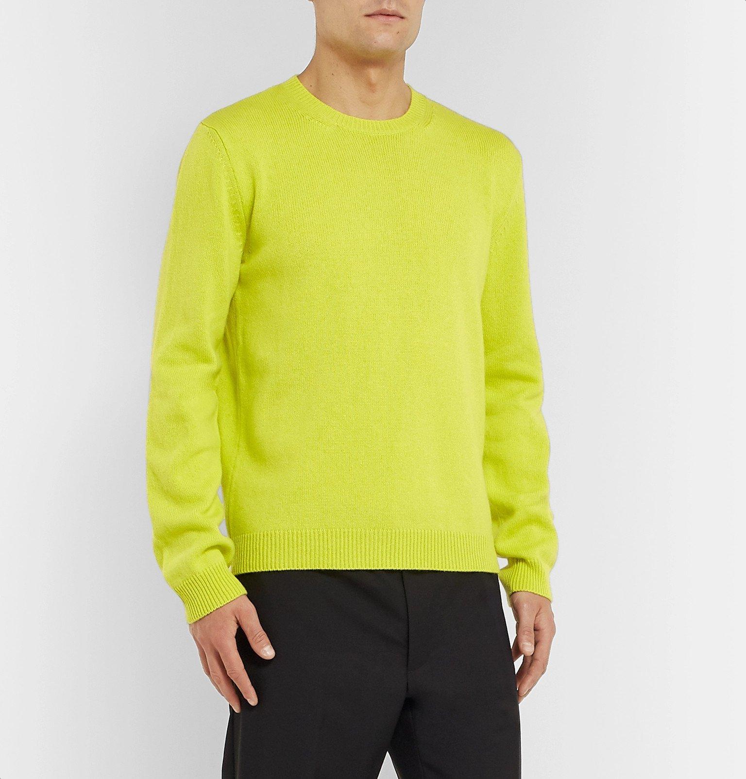 Valentino - Neon Cashmere Sweater - Yellow