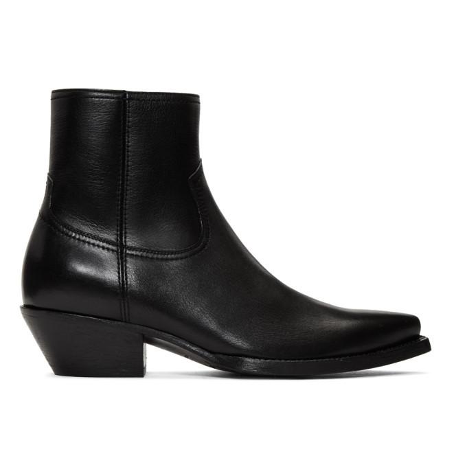 Photo: Saint Laurent Black Lukas Boots