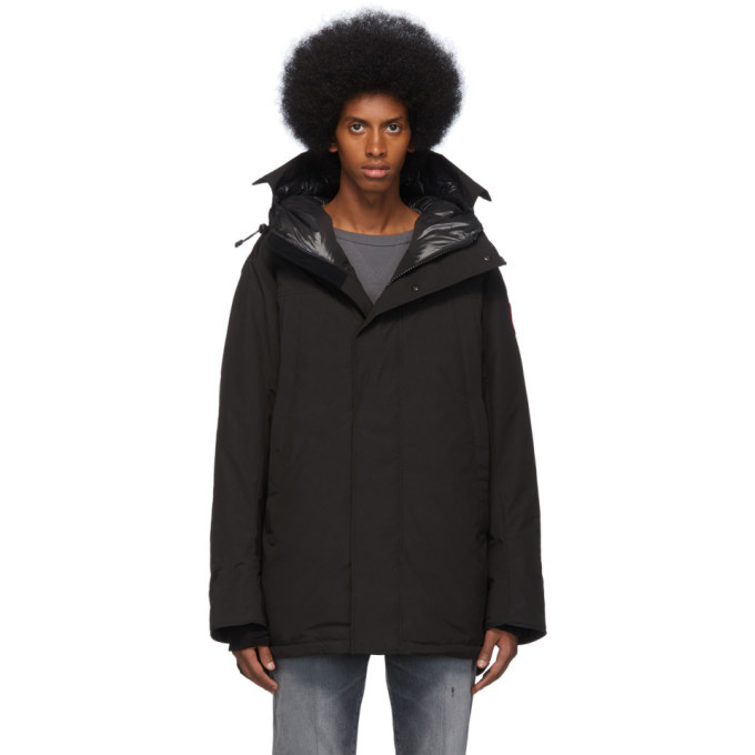 Photo: Canada Goose Black Down Sanford Parka