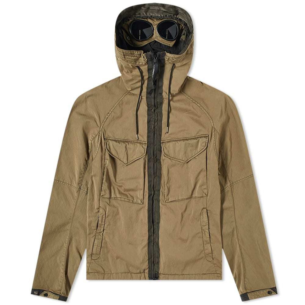C.P. Company Raso Hooded Garment Dyed Goggle Jacket