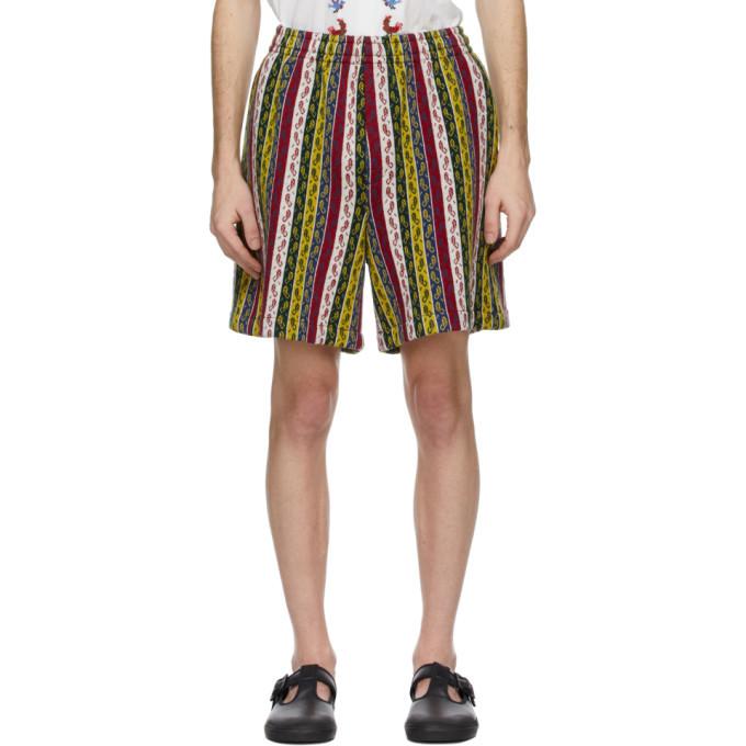 Photo: Bode Multicolor Primary Stripe Track Shorts
