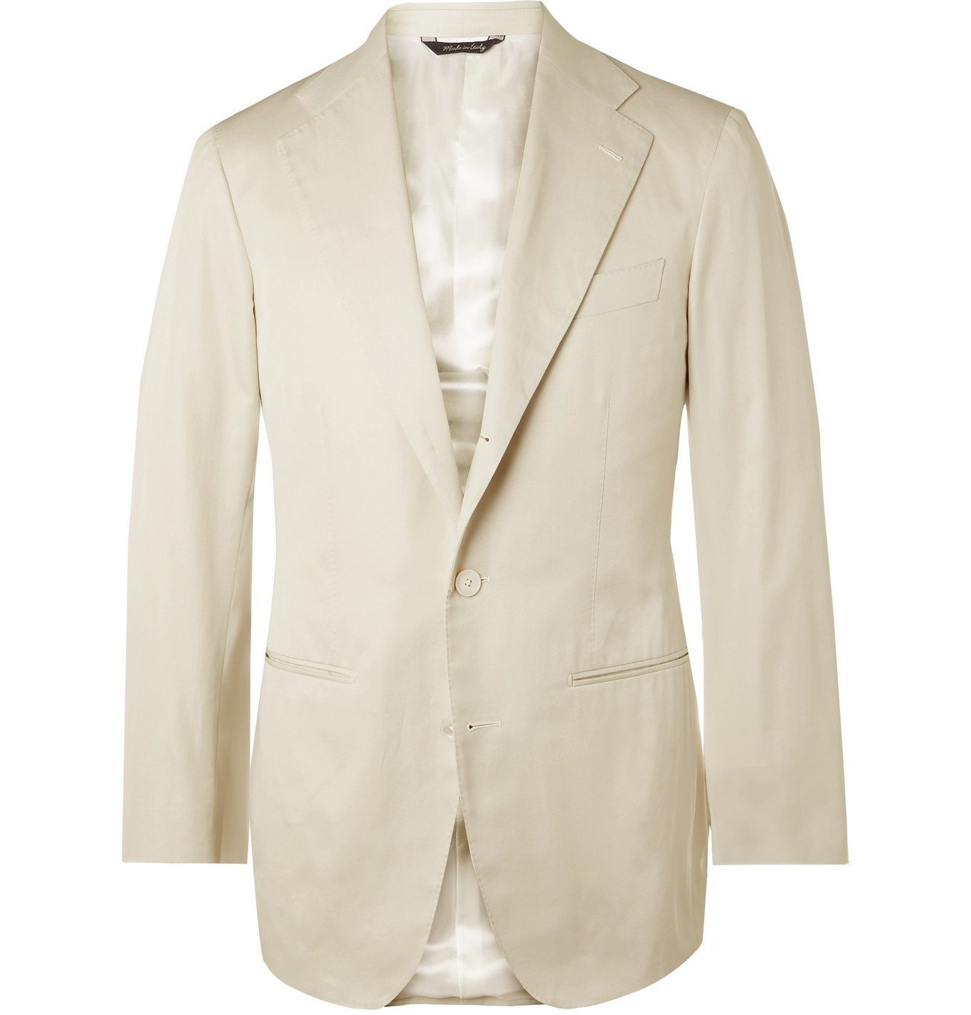Saman Amel - Slim-Fit Cotton Suit Jacket - Neutrals