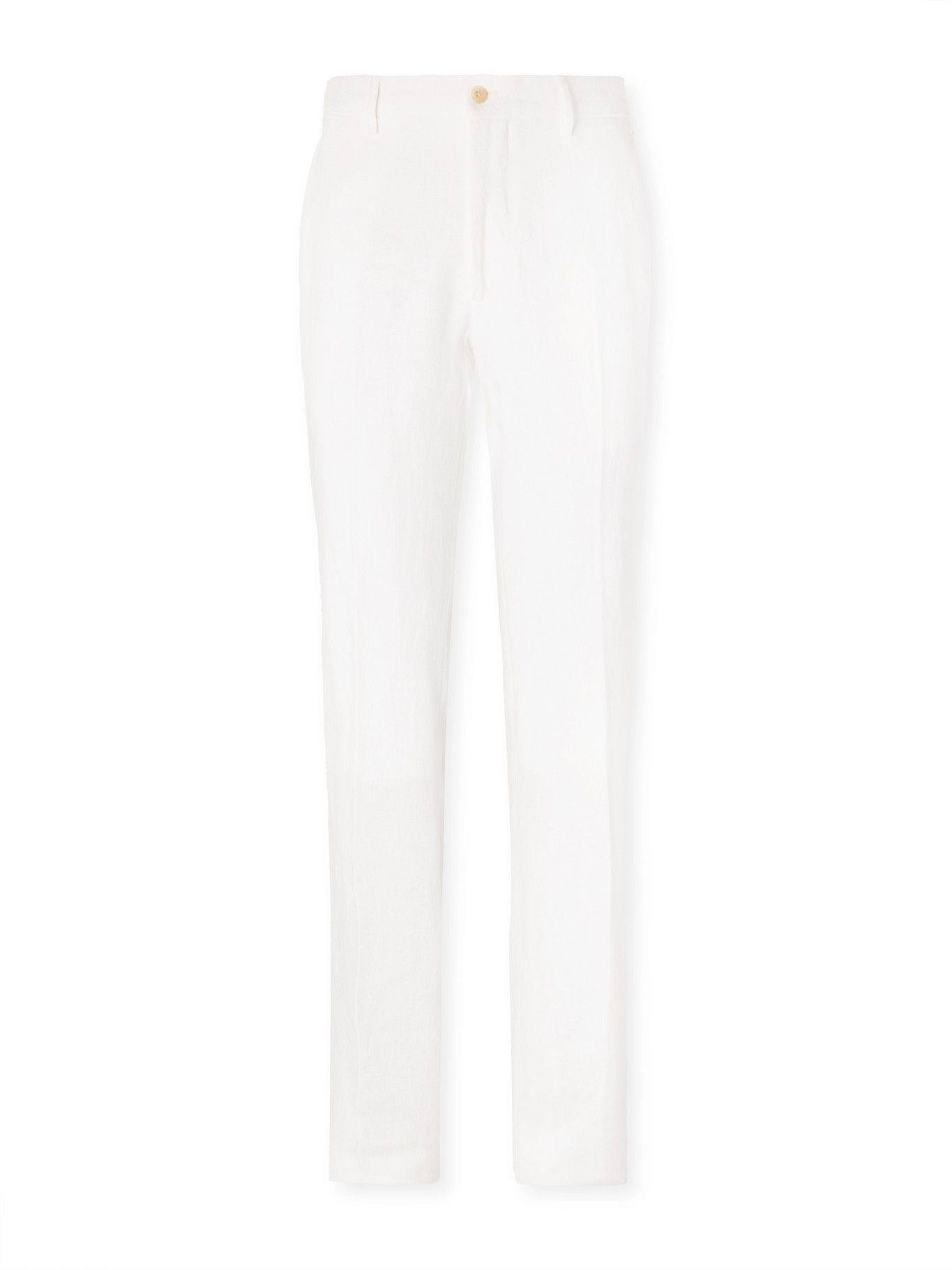 Photo: ANDERSON & SHEPPARD - Linen Trousers - Neutrals