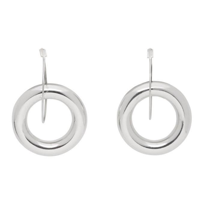 Photo: Jil Sander Silver Double Hoop Earrings