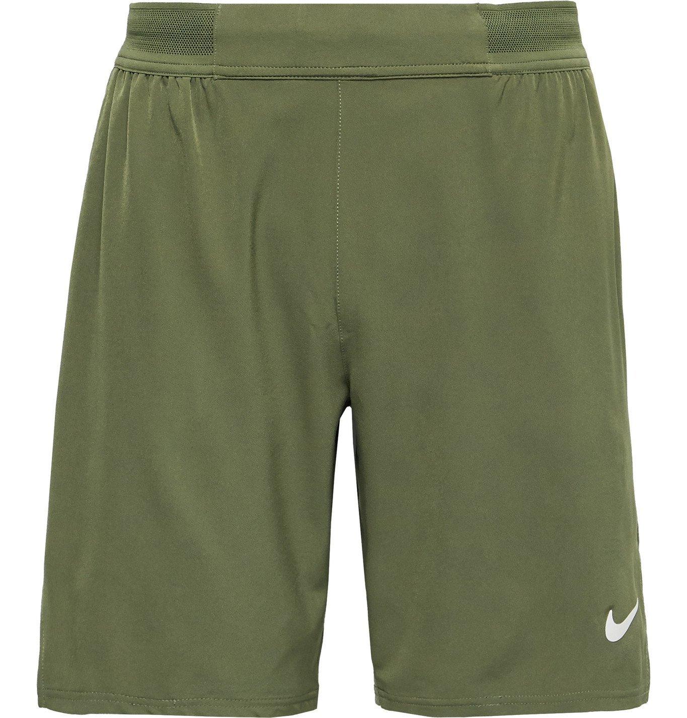 Photo: Nike Tennis - NikeCourt Flex Ace Dri-FIT Tennis Shorts - Green