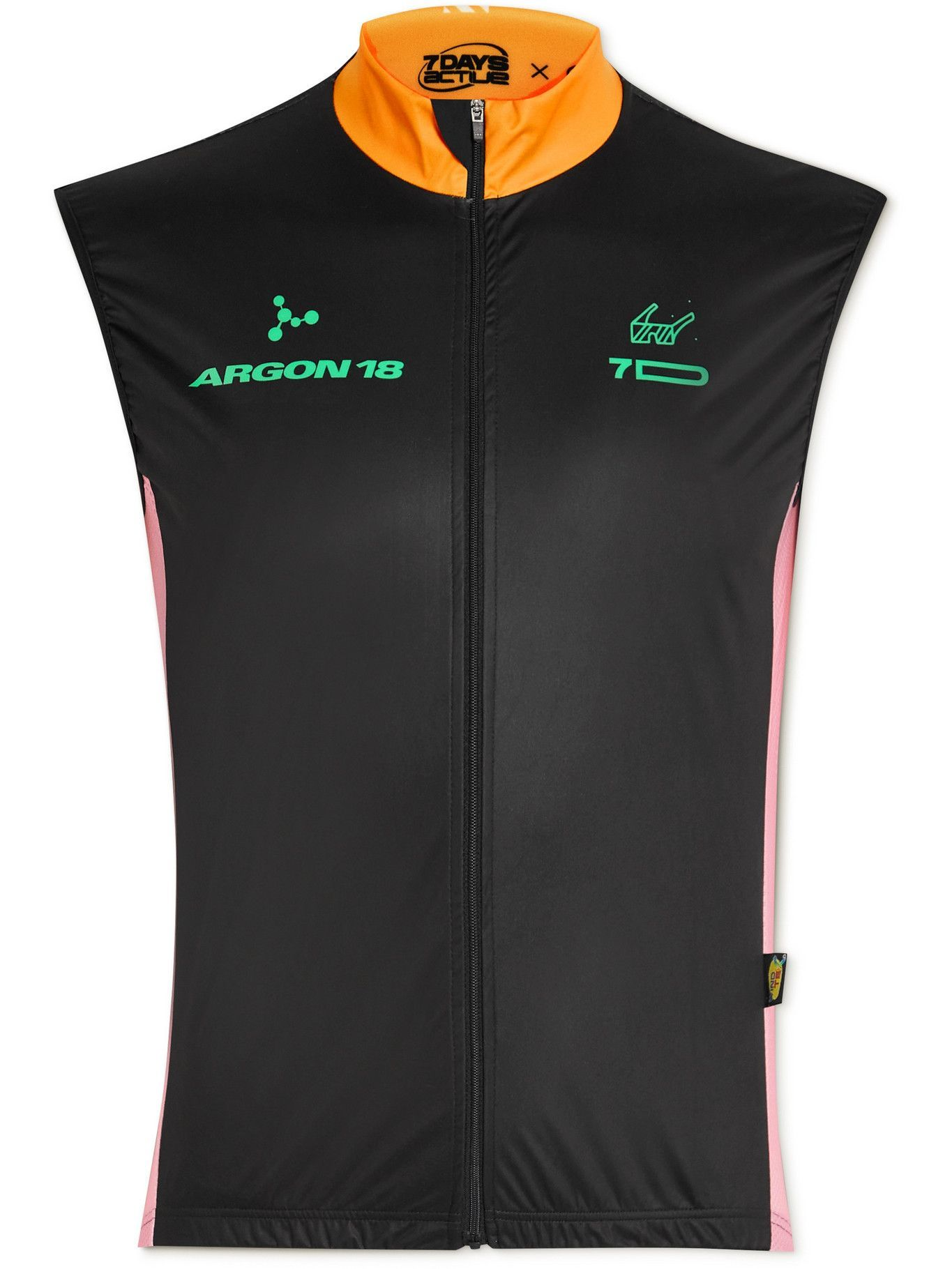 Photo: 7 DAYS ACTIVE - Argon 18 Colour-Block Mesh-Panelled Cycling Jersey - Black