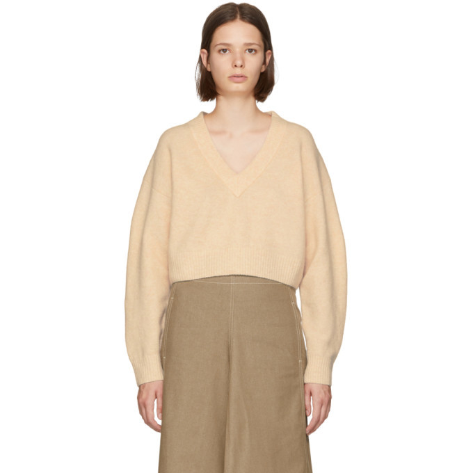 3.1 Phillip Lim Pink Lofty V-Neck Sweater