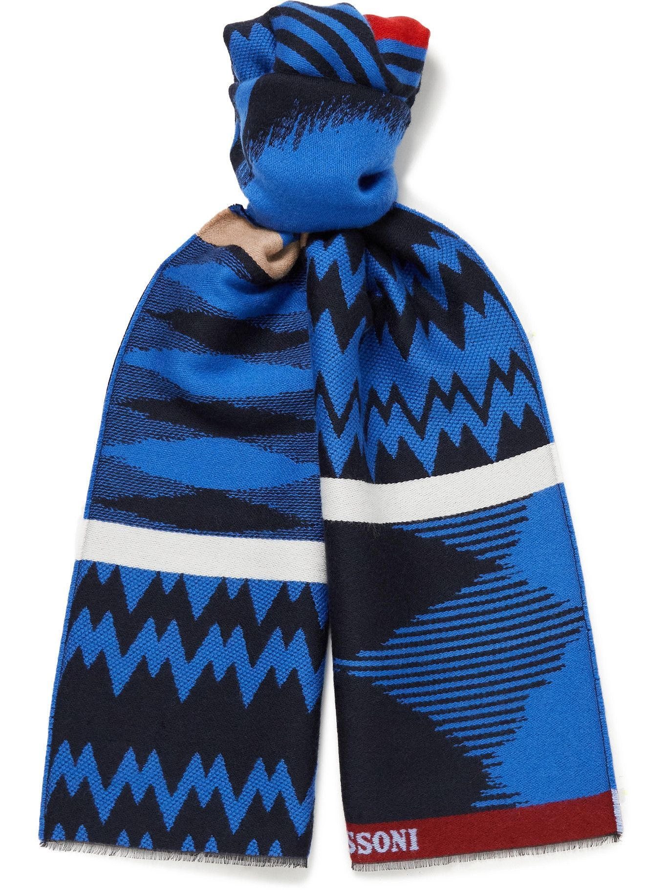 Photo: Missoni - Fringed Wool and Cotton-Blend Scarf