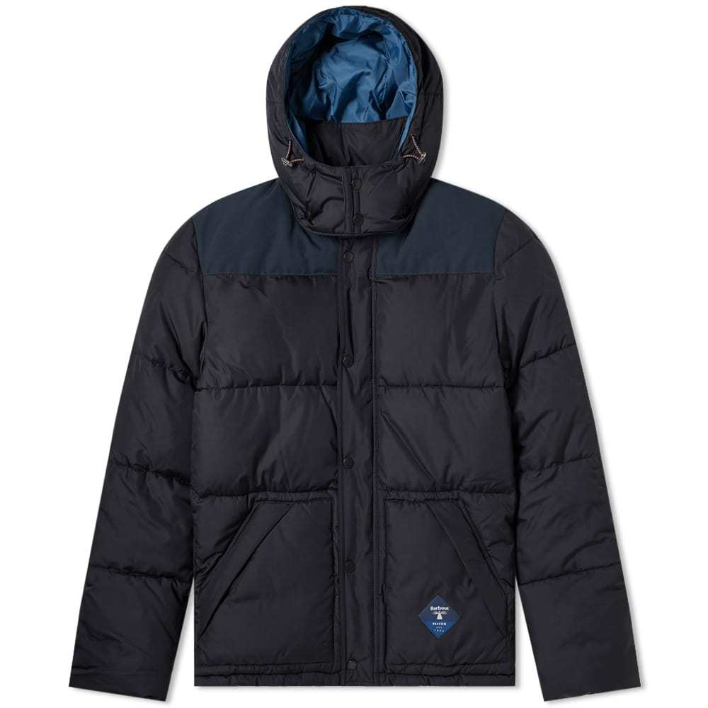 Photo: Barbour Mill Down Quilt Jacket Navy