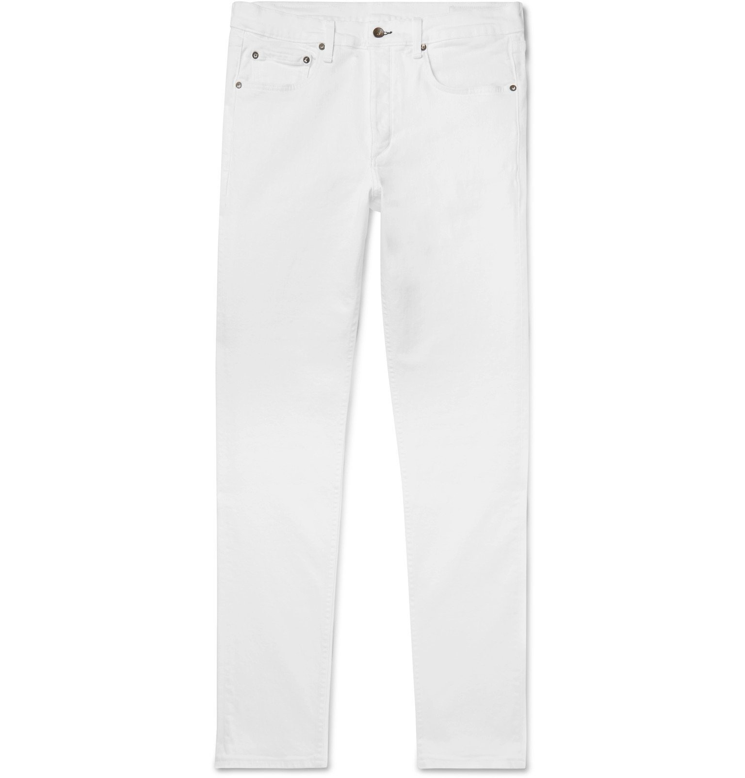 Photo: rag & bone - Slim-Fit Denim Jeans - White