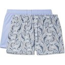 Hanro - Two-Pack Cotton Boxer Shorts - Blue