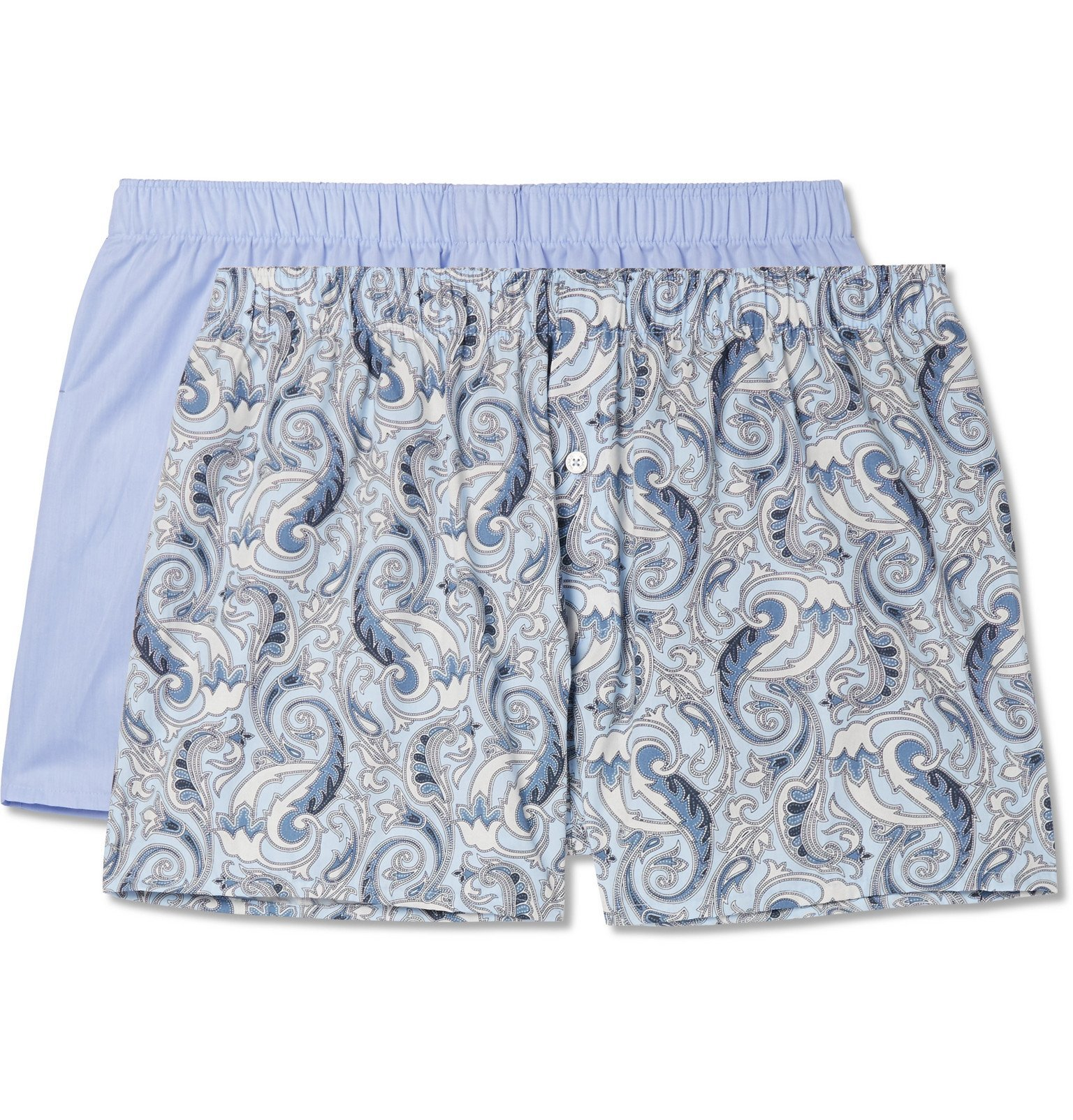 Photo: Hanro - Two-Pack Cotton Boxer Shorts - Blue