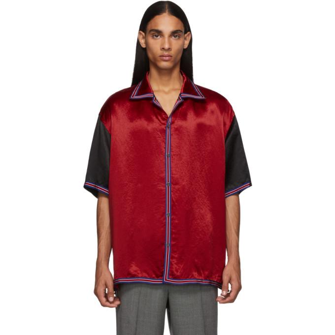 Photo: Gucci Red GG Star Bowling Shirt