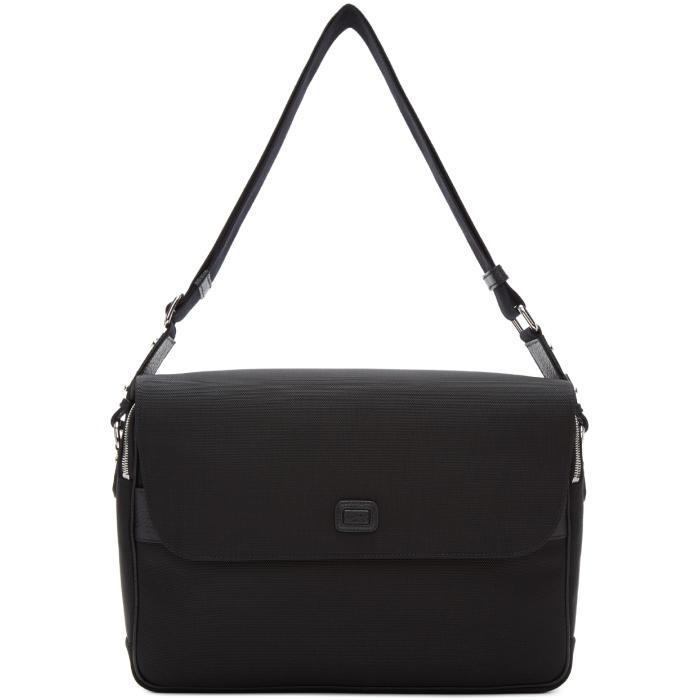 Photo: Dolce and Gabbana Black Canvas Messenger Bag