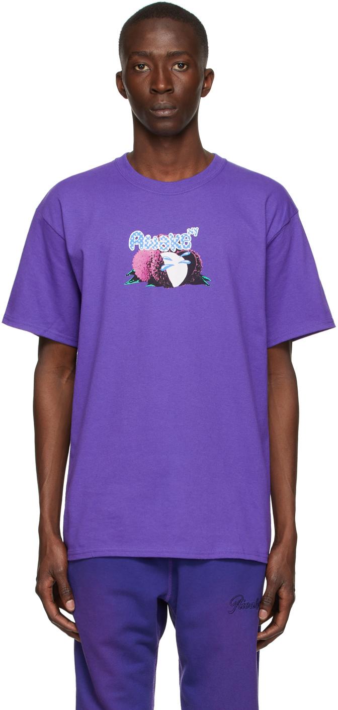 Photo: Awake NY Purple Lychee Logo T-Shirt