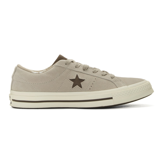 Photo: Converse Beige Suede One Star Sneakers