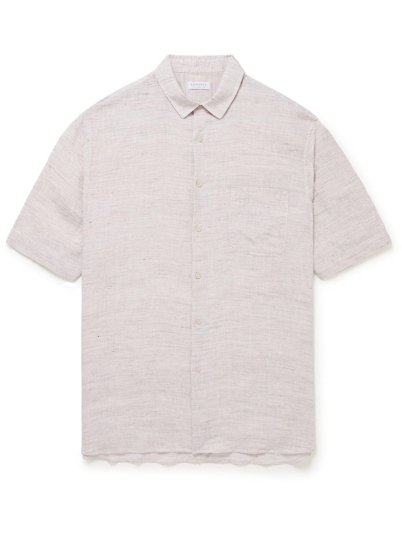 Photo: Sunspel - Mélange Linen Shirt - Neutrals
