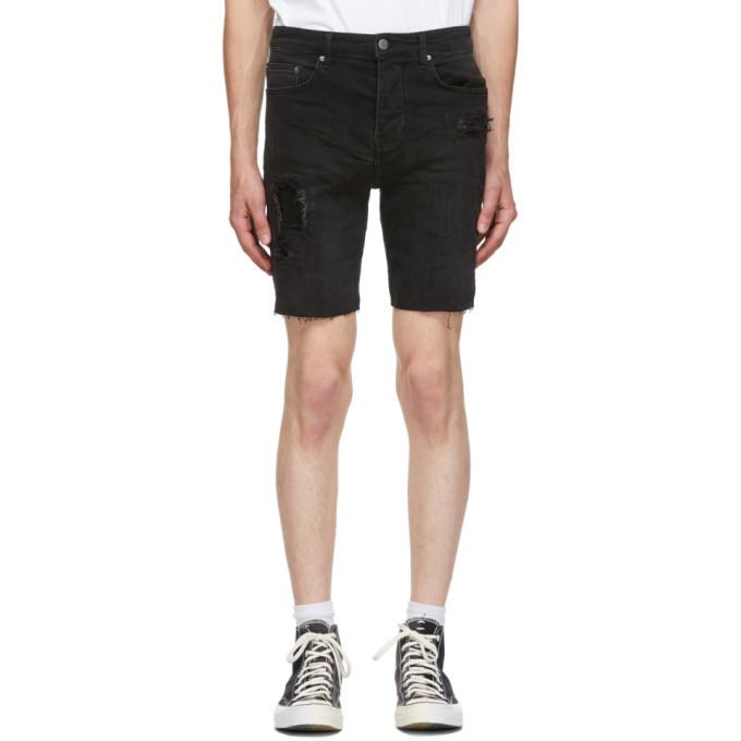 Ksubi Black Denim Chopper Shorts