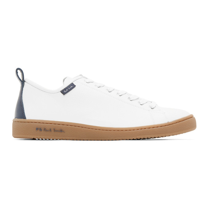 Photo: PS by Paul Smith White and Navy Miyata Sneakers