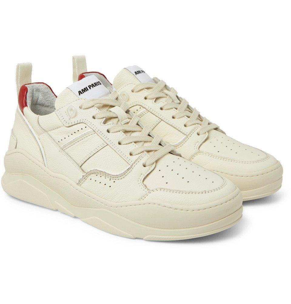 AMI - Leather Sneakers - Ecru AMI