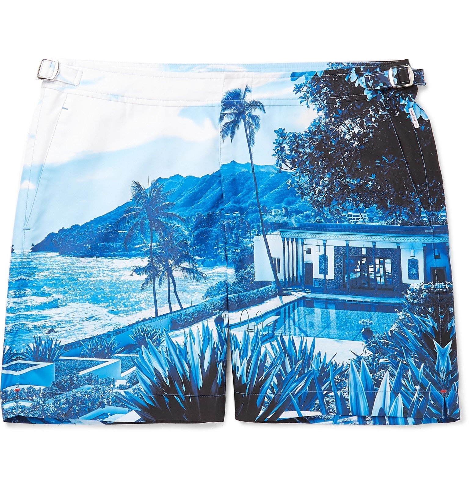 Photo: Orlebar Brown - Bulldog Mid-Length Printed Swim Shorts - Blue