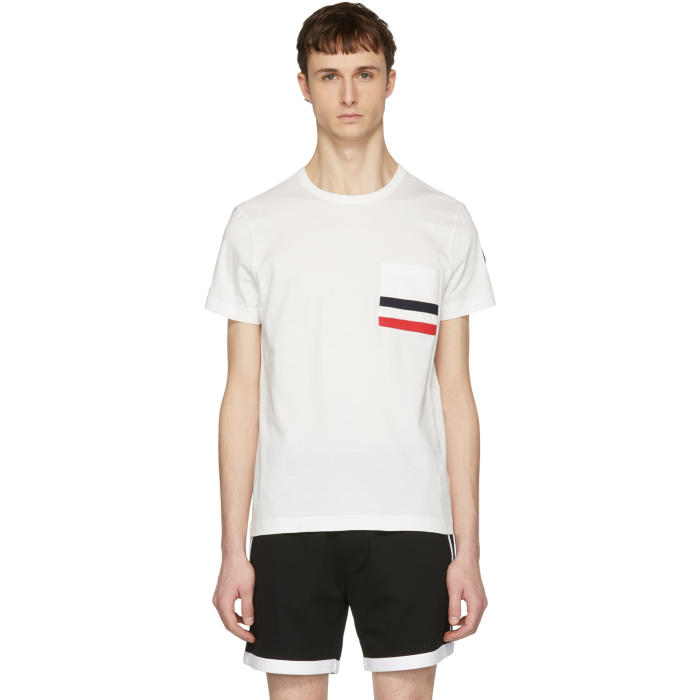 Moncler Off-White Flag Pocket T-Shirt