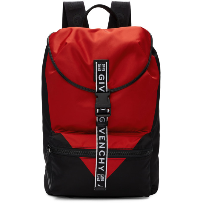 Photo: Givenchy Black and Red Triangle Backpack