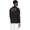 Martine Rose Black Sweats Funnel Neck Top T-Shirt