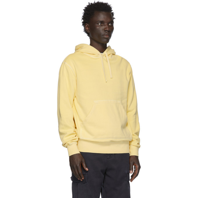 Officine Generale Yellow Oliver Hoodie