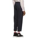 3.1 Phillip Lim Navy Wide Cuff Single Pleat Trousers