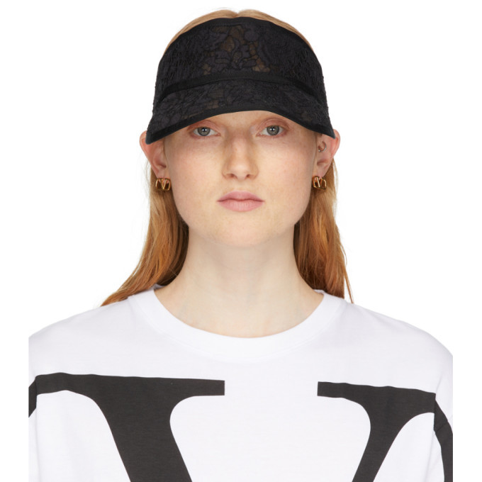 Photo: Valentino Black Valentino Garavani Lace Visor