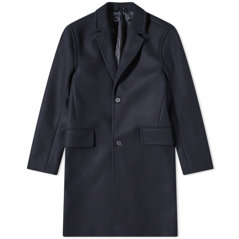 Photo: Officine Generale Matt Double Wool Coat