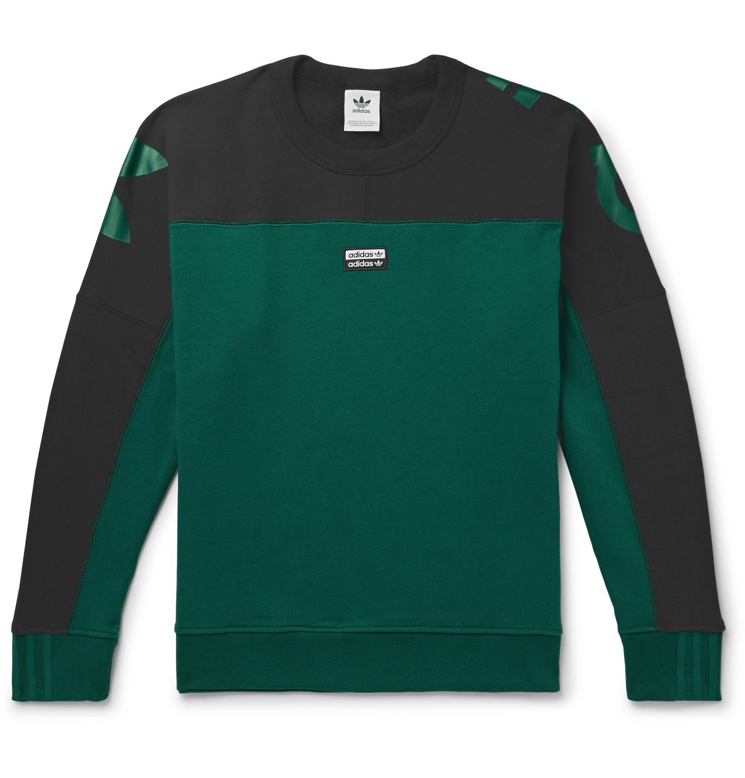 adidas Originals - R.Y.V. Logo-Print Loopback Cotton-Jersey Sweatshirt - Green
