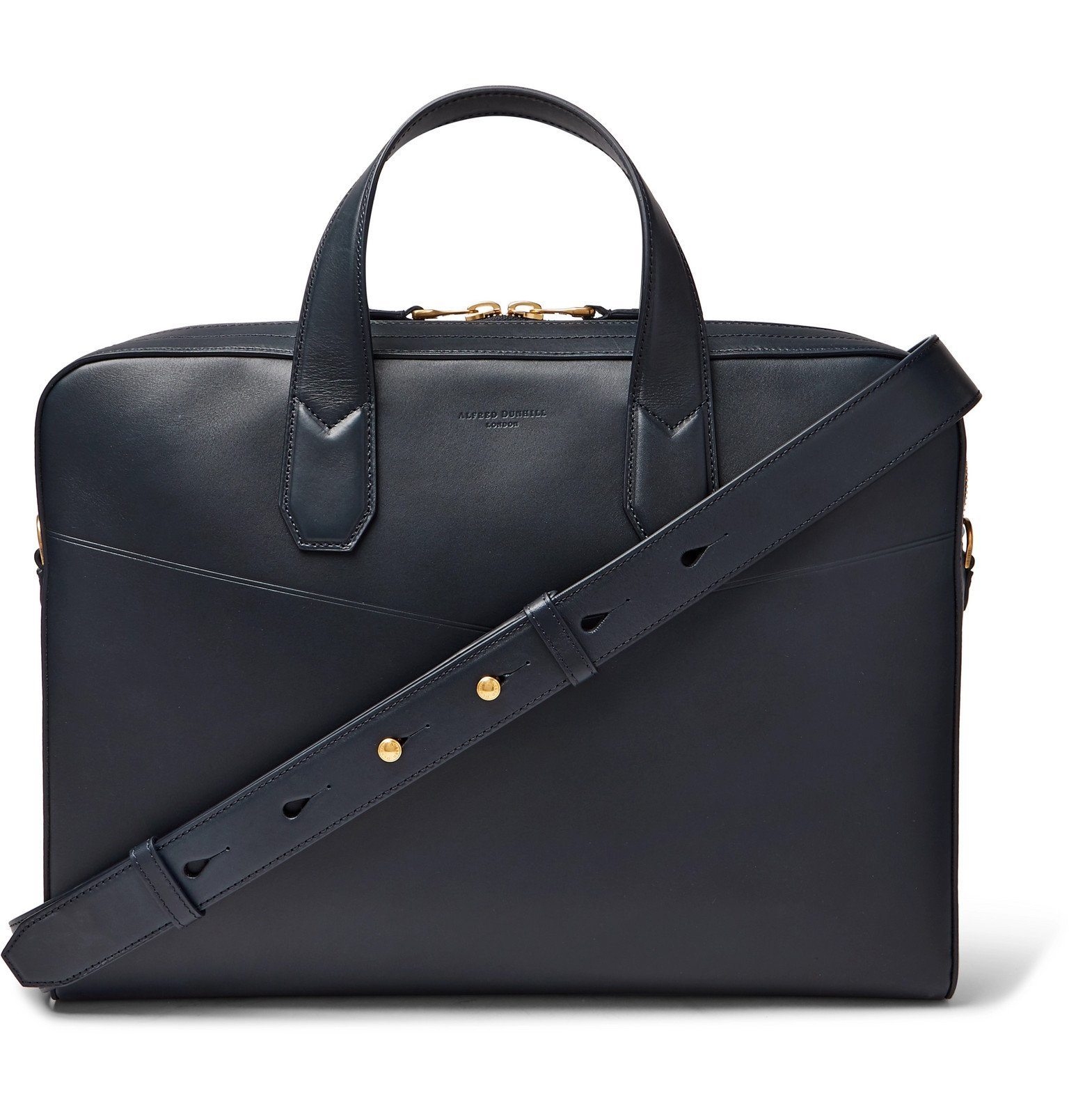 Dunhill - Duke Leather Briefcase - Blue