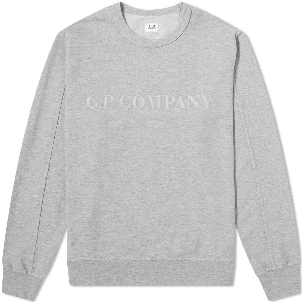Photo: C.P Company Straight Logo Crew Sweat Grey