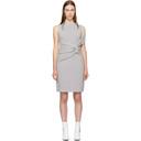 3.1 Phillip Lim Grey Draped Ribbed Twist Dress