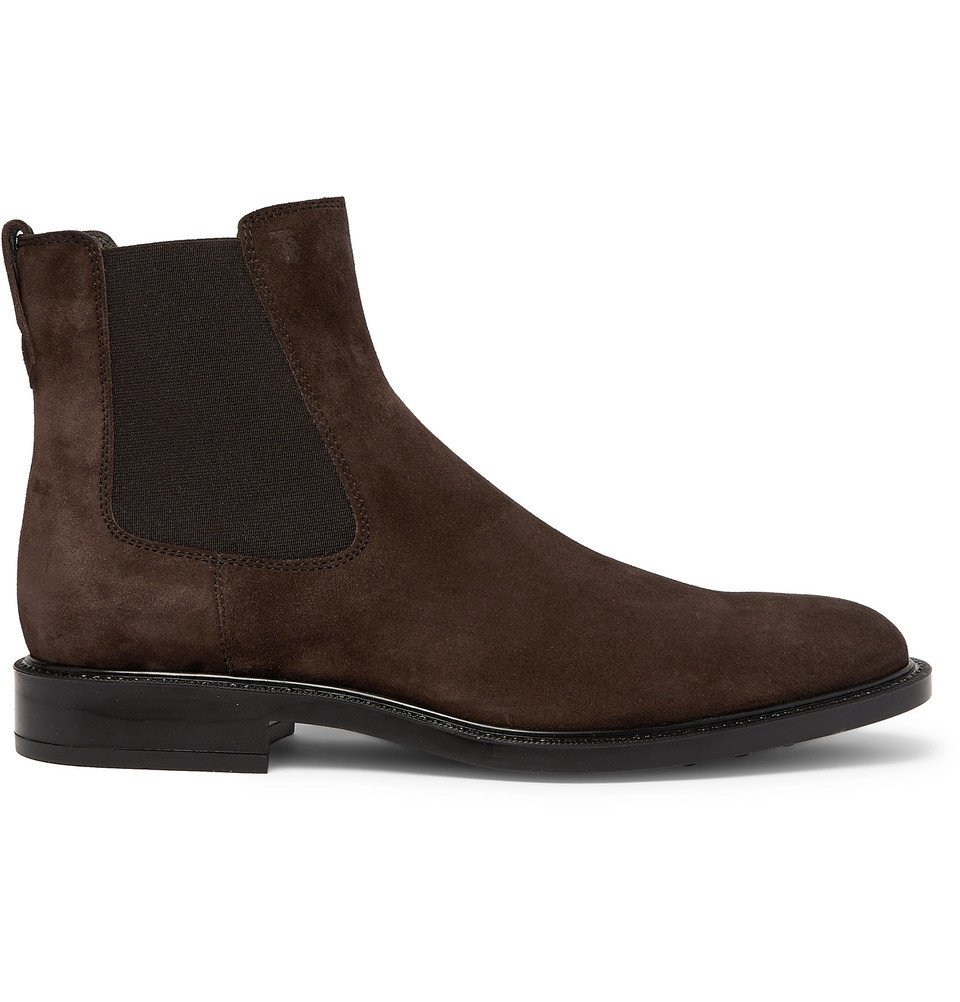 Tod's - Suede Chelsea Boots - Dark brown