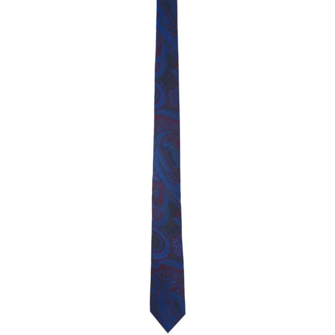 Photo: Etro Navy Paisley Tie